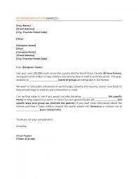 cover letter sample cover letter for sponsorship sample cover ...