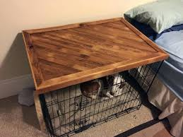 gorgeous dog kennel table plans of diy wooden crate coffee
