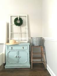 master bedroom nightstand after distressed rustoleum chalk paint serenity blue diy