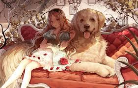 Wallpaper dog, anime, girl images for ...