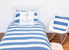 atelier edele blue and white stripe organic duvet cover nautical