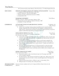 Mba Resume Examples Accountant Resume Sample Mba Marketing Resume