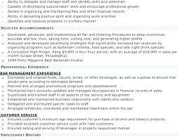 Server Bartender Resume Bartender Server Resume Bartender Resume