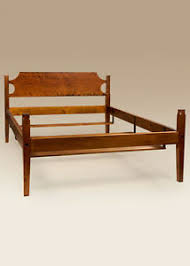 Shaker Bed Frame - Cherry Wood - Queen Size Low Post Bed - Bedroom ...