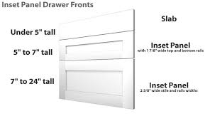 white drawer front. Shaker Drawer Front Dimensions White