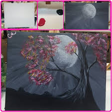photo of painting with a twist charlotte nc united states wicked moonlight