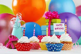 Happy Birthday Cupcake Birthday Balls Candles Cupcakes Gifts Hd