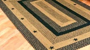 primitive area rugs star round