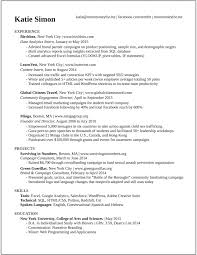 college interview resume