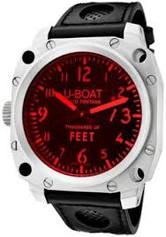 267 dial main left handed watches left handed u boat 1176 thousands of feet watch