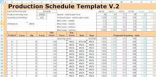 Production Scheduling Spreadsheet Production Schedule Template Excel