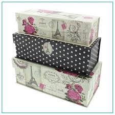Decorative Cardboard Storage Box With Lid Large Storage Boxes Decorative Decorative Large Storage Boxes 40