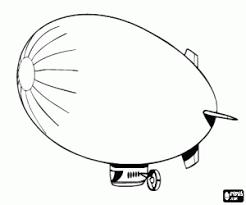 Kleurplaat Zeppelin Luchtschip Kleurplaten