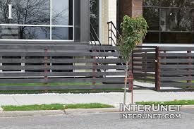 horizontal wood fence with metal posts. Contemporary Horizontal Blackwoodhorizontalfenceonmetalposts With Horizontal Wood Fence Metal Posts L