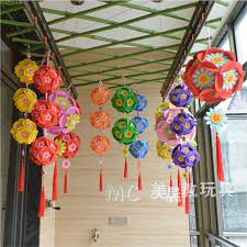 Paper Flower Balls To Hang From Ceiling Kindergarten Decoration Ornaments Hanging Ornaments Sky Mall