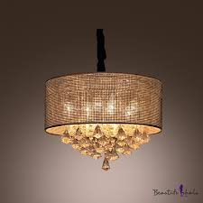 crystal diamond drops cered round crystal beads embedded shade large pendant light takeluckhome com