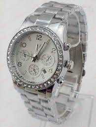 luxury fashion watch calendar diamonds tridimensional 3 dials watchband approx 22cm length 1 9cm width package opp plastic bag condition brand new out tag style no tl mk04 watch calendar and diamond