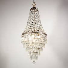sold spectacular antique five tiered chandelier with original crystal prisms 19th century