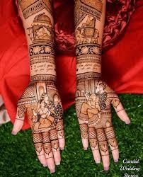 Dulha Dulhan Mehndi Designs Wallpapers 30 Newest Bridal Mehndi Designs For Hands Feet Shaadisaga