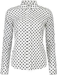 Dotted Tops Designs Erztiay Womens Tops Feminine Long Sleeve Polka Dotted Button Down Casual Dress Blouses Shirts