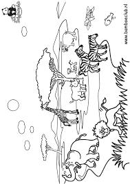 Kleurplaat Olifant Giraf Leeuw Kleurplatennl