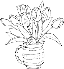 Small Picture Coloring Pages Printable Flower Color Pages For Kids Spring