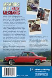 back cover memoirs of a mechanic by rob siegel bentley rh bentleypublishers com 1994 chevy