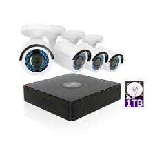 LaView 1080P HD 4 Security Cameras 4CH Home Video Camera System w/ 1TB HDD 2MP Night View CCTV Surveillance Kit - Walmart.com