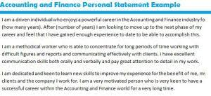 Graduate school personal statement examples accounting