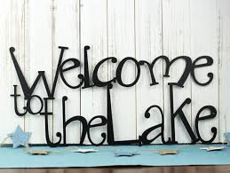 Welcome To The Lake Signs Decor Wonderful Welcome To The Lake Metal Sign Lake House Decor Metal 2