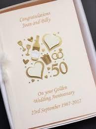 Golden Wedding Card 50th Anniversary Card Personalised Handmade