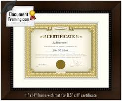 white certificate frame 11x14 document frame brown w off white mat ebay