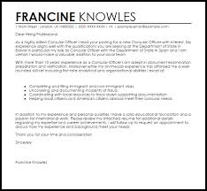 American Resume Cover Letters Consular Officer Cover Letter Sample Cover Letter