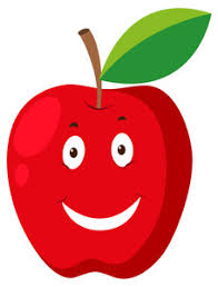 green and red apple clipart. red apple with happy face illustration green and clipart