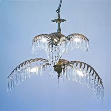 bronze brass palm tree chandelier lighting