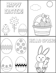 Enjoy these free, printable easter coloring pages! Free Printable Easter Coloring Pages Real Mom Recs
