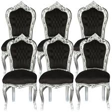 black and silver furniture. 6 chairs black u0026 silver baroque table dining room furniture home decor elegance and e