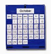 Classroom Calendar Pocket Chart Monthly Calendar Pocket Chart