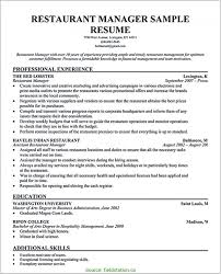 Resume Restaurant Manager Restaurant Manager Resume Sample Free 77732 Restaurantager