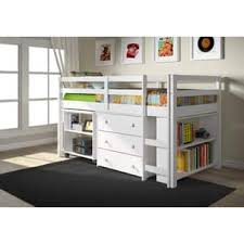 discount kids bedroom furniture. donco kids low study loft desk twin bed with chest and bookcase discount bedroom furniture