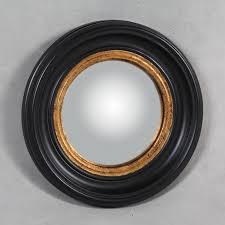 small round black convex mirror 40cm x