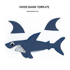 paper shark stop motion tutorial make film play paper shark template 001