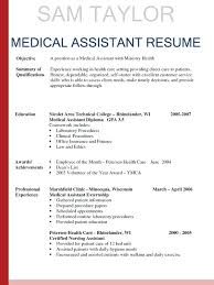 Medical Assistant Objective Statement For Resume Medical Assistant