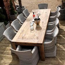 lowry 10 seater reclaimed teak rectangular garden dining set