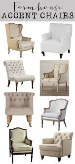 accent chairs for cheap. Friday Favorites: Farmhouse Accent Chairs - House Of Hargrove. Neutral, Linen, Tufted, Beautiful Chairs. For Cheap