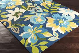 image of blue star nursery rug
