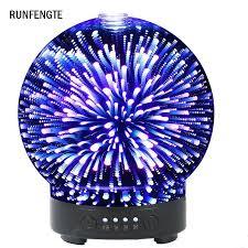<b>RUNFENGTE</b> 3D Glass <b>Aroma</b> Diffuser Essential Oil Air Humidifier ...