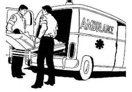 Gratis Verkeer Kleurplaat Ambulance Met Brancard Hulpdiensten