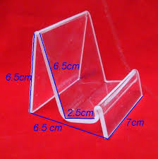 Acrylic Product Display Stands Extraordinary 32pcslot Clear View Single Acrylic Wallet Display Stand Mobile