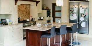 flat panel kitchen bespoke enigma design wicklow classical style painted cream and walnut kitchen enigma design